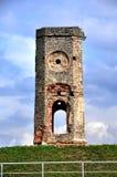 Rovina della torre del castello, Polonia Fotografia Stock