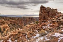 Rovina della torre sul canyon del mulo fotografie stock libere da diritti