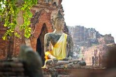 Rovina di Buddha in Ayuttaya (Tailandia) Immagine Stock Libera da Diritti