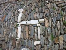 Rovina di inka di Choquequirao nella giungla peruviana della montagna fotografia stock