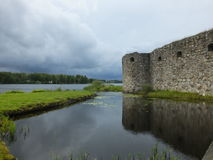 Rovina di Kronoberg - Vaxjo - Svezia fotografia stock