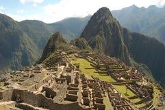 Rovina di Machu Picchu nel Perù Fotografia Stock