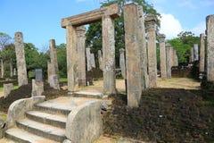 Rovina di Polonnaruwa nello Sri Lanka Fotografie Stock