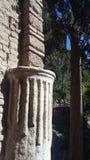 Rovina di Roman Theatre nel Alcazaba di Malaga immagine stock