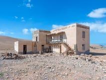 Rovina di una casa a Fuerteventura Fotografia Stock