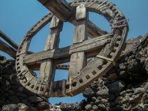 Rovina greca del mulino a vento Fotografia Stock Libera da Diritti