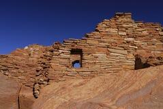 Rovina indiana del pueblo di Wupatki Immagine Stock
