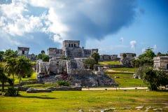 Rovina maya fotografia stock libera da diritti