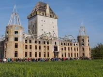 Rovina moderna del castello Almere Immagine Stock