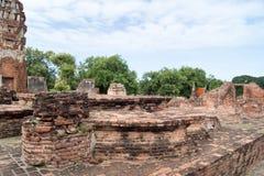 Rovina nel complesso Wat Maha That del tempio Fotografia Stock