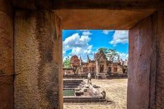 Rovina religiosa di Prasat Hin Mueang Tam Hindu situata in Buri Ram Province Thailand immagini stock libere da diritti