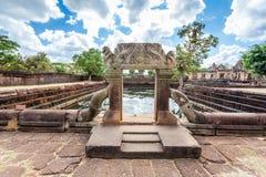 Rovina religiosa di Prasat Hin Mueang Tam Hindu situata in Buri Ram Province Thailand fotografie stock
