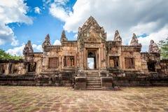 Rovina religiosa di Prasat Hin Mueang Tam Hindu situata in Buri Ram Province Thailand fotografia stock libera da diritti