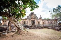 Rovina religiosa di Prasat Hin Mueang Tam Hindu situata in Buri Ram Province Thailand fotografia stock