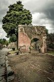 Rovina romana a Pompei Fotografia Stock Libera da Diritti