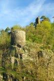 Rovina Zboreny Kostelec, repubblica Ceca del castello fotografie stock