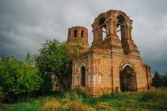 Rovine abbandonate della chiesa del presupposto del vergine benedetto Fotografia Stock