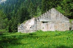 Rovine alpine fotografie stock