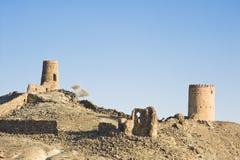 Rovine antiche ad Al Mudayrib nell'Oman fotografia stock libera da diritti