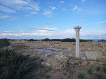 Rovine antiche alla penisola di akamas in Cipro immagini stock libere da diritti