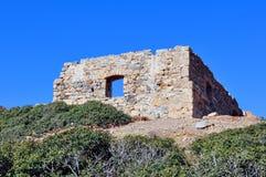 Rovine antiche in Crete, Grecia immagini stock