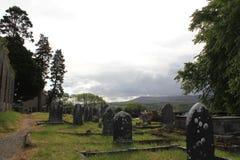 Rovine antiche del cimitero Fotografia Stock
