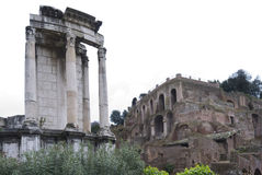 Rovine antiche del forum Romanum. Immagini Stock