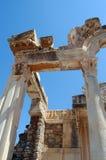 Rovine antiche del Greco in Efesus, Turchia Fotografia Stock Libera da Diritti