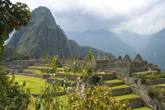 Rovine antiche del Inca di Machupicchu Fotografie Stock Libere da Diritti