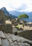 Rovine antiche del Inca di Machupicchu Immagine Stock