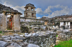 Rovine antiche del Maya di Palenque, Messico fotografia stock