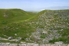 Rovine antiche del teatro, le rovine di Laodicea una città di Roman Empire immagine stock