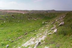 Rovine antiche del teatro, le rovine di Laodicea una città di Roman Empire fotografia stock libera da diritti