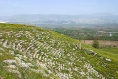 Rovine antiche del teatro, le rovine di Laodicea una città di Roman Empire immagini stock