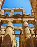 Rovine antiche del tempiale di Karnak nell'Egitto Fotografia Stock Libera da Diritti