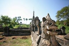 Rovine antiche del tempio di Bagan immagine stock libera da diritti