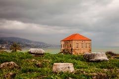 Rovine antiche della città di Byblos Immagini Stock