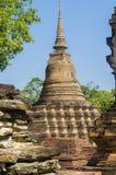 Rovine antiche della cultura di Sukhothai fotografie stock