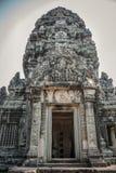 Rovine antiche di Angkor della porta alla Cambogia, Asia. Cultura, tradizione, Fotografia Stock