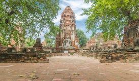 Rovine antiche di Ayutthaya in Tailandia fotografie stock