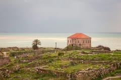 Rovine antiche di Byblos Fotografia Stock