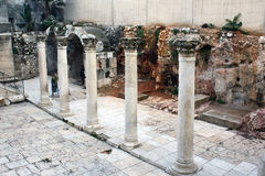 Rovine antiche di Jerusalim, Israele Fotografie Stock Libere da Diritti