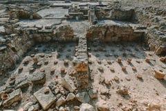 Rovine antiche di Kato Pafos, Cipro fotografie stock libere da diritti