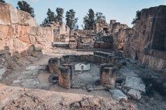 Rovine antiche di Kato Pafos, Cipro immagine stock libera da diritti