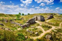 Rovine antiche di Panticapaeum di Kerc Fotografie Stock Libere da Diritti