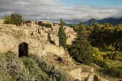 Rovine antiche di Pompei, Italia immagini stock