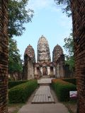 Rovine antiche di Sukhothai fotografie stock