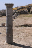 Rovine antiche di Thira, Santorini fotografie stock libere da diritti