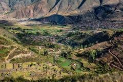 Rovine antiche di Tipon in Cusco Perù fotografia stock
