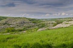 Rovine antiche di una fortezza medievale Fotografie Stock